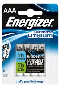 Bild Energizer Batterier Ultimate Lithium AAA 4-pack