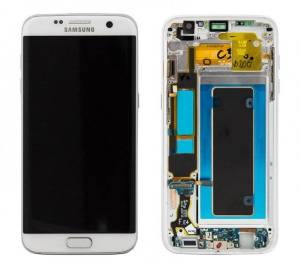 Bild Samsung Galaxy S7 Edge Skärm/glasbyte Vit - Back to School!