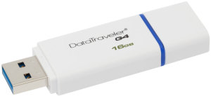 Bild Kingston DataTraveler G4 -  16 GB - USB 3.0 - Blå