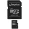 Produktbild Kingston 32GB micro SDHC Class 4 + Adapter