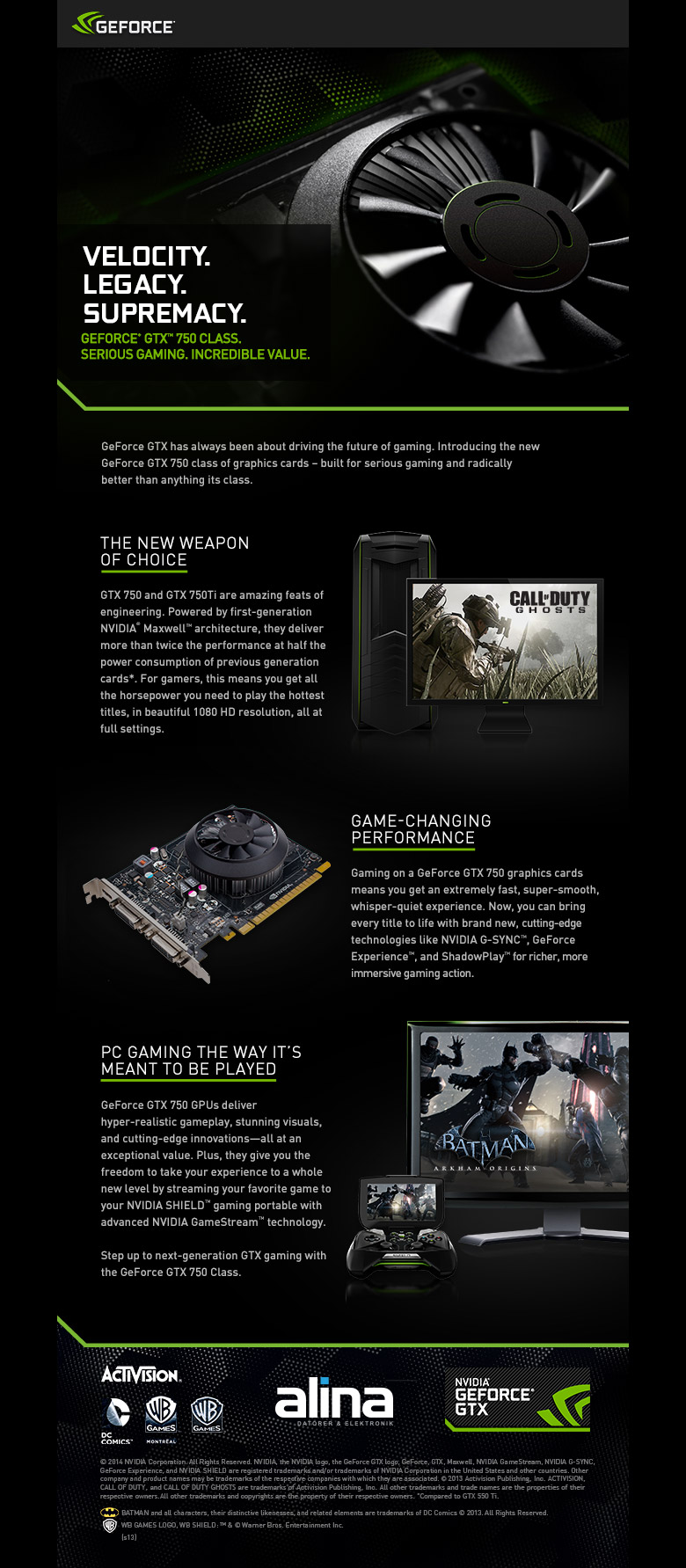Introducing GeForce GTX 750