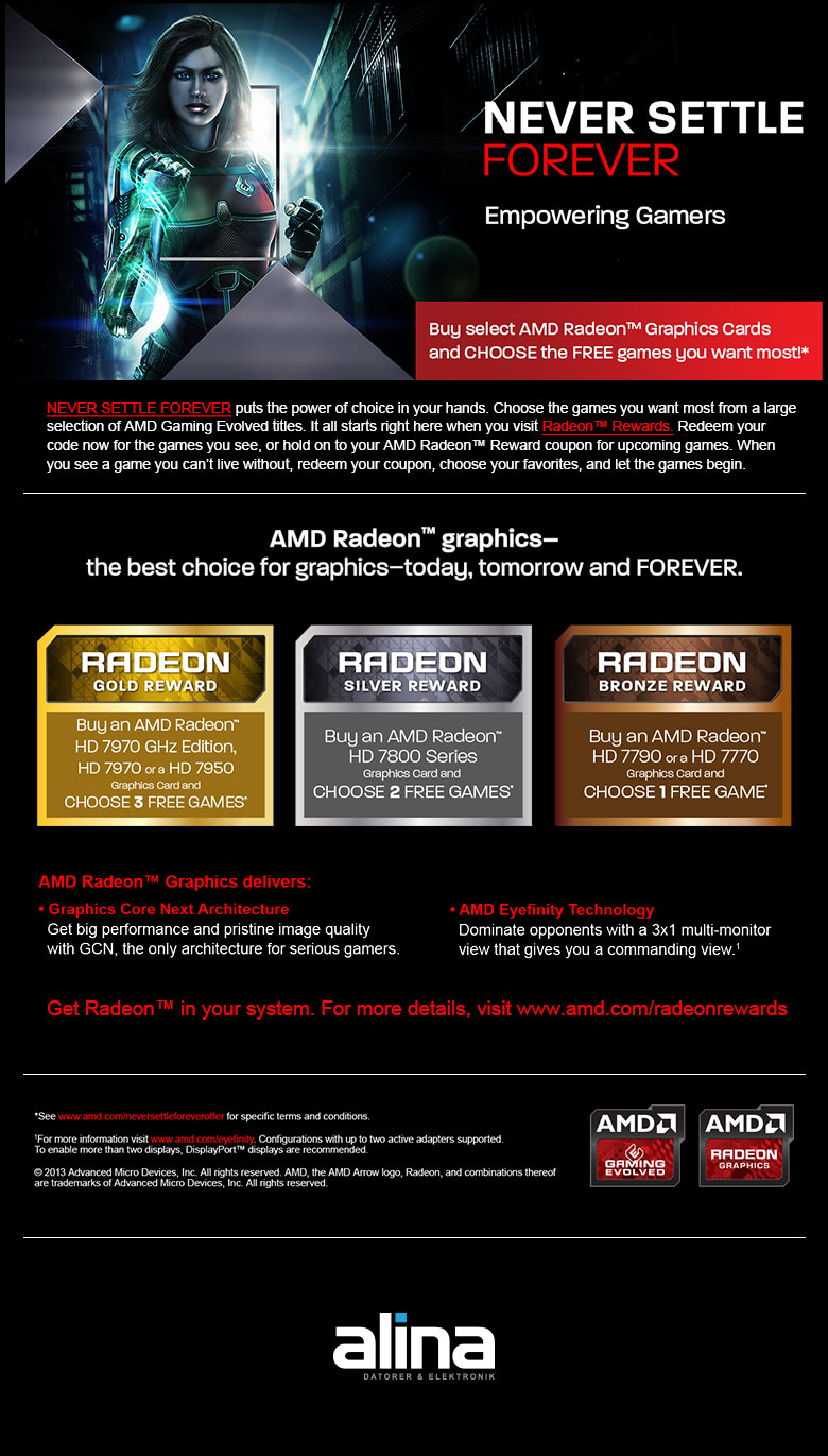 AMD Never Settle Forever