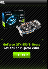 GeForce GTX 650 Ti Boost Få 474 Kr in-game