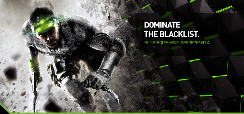 Köp ett NVIDIA GeForce GTX-kort och få Tom Clancy's Splinter Cell Blacklist på köpet!