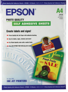 Bild Epson Quality Self Adhesive Fotopapper 10 ark A4