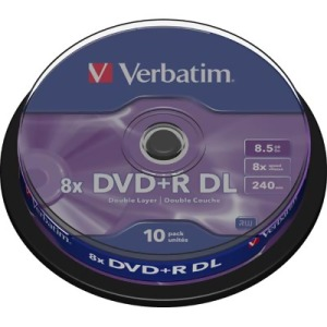 Bild Verbatim DVD+R DL 10-pack spindel