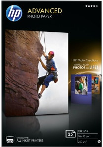 Bild HP Advanced Glossy Fotopapper 25 ark 10x15