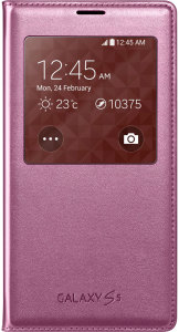 Bild Samsung S-View Cover Glam Pink - Galaxy s5