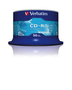 Bild Verbatim CD-R 700MB 52X 50-SPINDL EXT PR