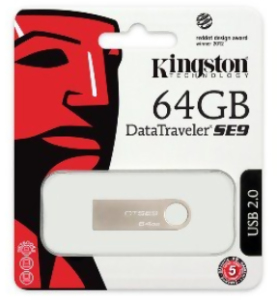 Bild Kingston 64GB USB 2.0 Stick DT SE9 metal casing
