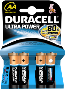 Bild Duracell Ultra Power, LR06/AA batterier, alkaliska, 1,5V, 4-pack
