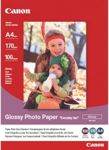 Bild Canon GP-501 Everyday Glossy Fotopapper 100 ark A4
