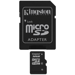 Bild Kingston 32GB micro SDHC Class 4 + Adapter