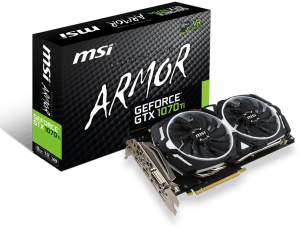 Bild MSI GeForce GTX 1070 Ti ARMOR 8GB