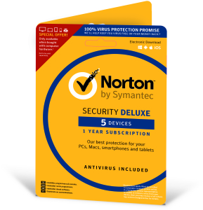 Bild Symantec Norton Security Deluxe 3.0 - 1 år, 5 enheter Attach