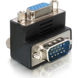 Bild DeLock VGA-adapter, HD15 ha-HD15 ho, vinklad