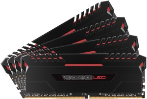 Bild Corsair Vengeance LED 32GB (4 x 8GB) DDR4 2666MHz Stunning Red