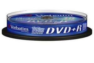 Bild Verbatim DVD+R 16X 4,7GB 10-Pack Spindel