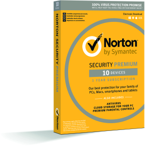 Bild Symantec Norton Security Premium 3.0 - 1 år, 10 enheter