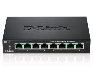 Bild D-Link DES-108 8-Portars Fast Ethernet Switch