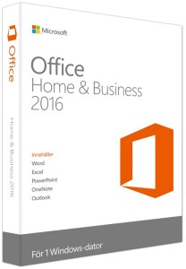 Bild Microsoft Office Home & Business 2016 Svensk - Produktnyckelkort