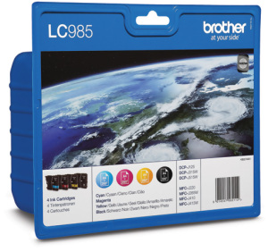 Bild Brother LC985 Value Pack Incl. BK/C/M/Y Ink Cartridges