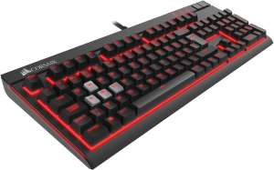 Bild Corsair Gaming Strafe Mech Cherry MX Red, Red LED