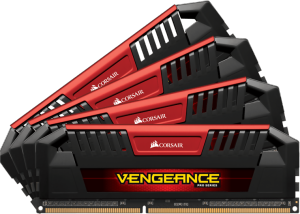 Bild Corsair Vengeance® Pro 32GB (4 x 8GB) 1600MHz DDR3L CL9 Red