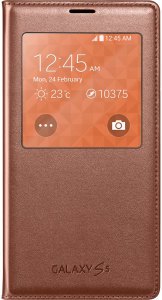 Bild Samsung S-View Cover Rose Gold - Galaxy s5