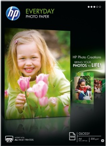 Bild HP Everyday Glossy Fotopapper 100 ark A4
