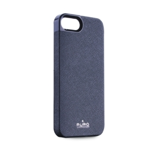 Bild Puro Case iPhone 5 Eco Leather Ultra Slim Blue - Utförsäljning!