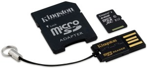 Bild Kingston MicroSDXC 64GB Class 10 UHS1 Mobility Kit