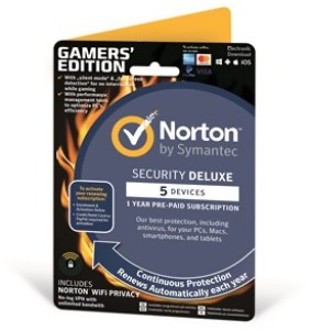 Bild Symantec Norton Security Deluxe 3.0 VPN - Gamers Edition - 1 år, 5 enheter - Back 2 School!