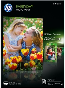 Bild HP Everyday Glossy Fotopapper 25 ark A4