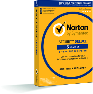 Bild Symantec Norton Security Deluxe 3.0 - 1 år, 5 enheter