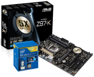 Bild ASUS Z97-K + Intel Core i5-4690K Bundle