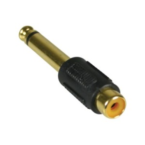 Bild Deltaco Multimedia-adapter, RCA ho till 6,3mm ha, mono