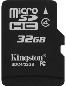 Bild Kingston 32GB micro SDHC Class 4