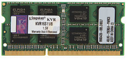 Bild Kingston 8GB SO-DIMM DDR3 1600MHz CL11