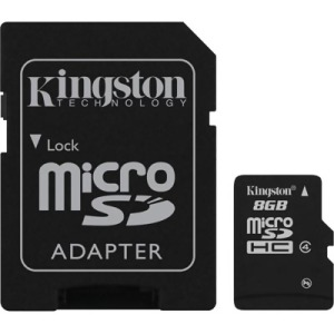 Bild Kingston 8GB micro SDHC Class 4 + Adapter