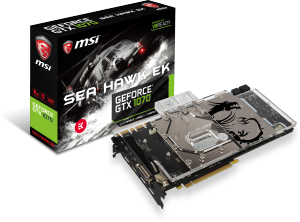 Bild MSI GeForce GTX 1070 Sea Hawk EK X 8GB