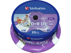 Bild Verbatim DVD+R Double Layer 8X 8,5GB 25pack