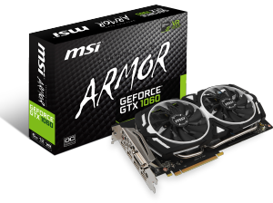 Bild MSI GeForce GTX 1060 ARMOR OC 6GB
