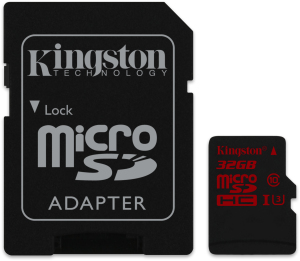 Bild Kingston 32GB microSDHC UHS-I speed class 3 U3 90R/80W