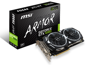 Bild MSI GeForce GTX 1080 8GB ARMOR OC
