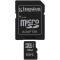 Produktbild Kingston 16GB micro SDHC Class 4 + Adapter