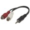 Produktbild Deltaco Multimedia-adapter 3,5mm ha till 2xRCA hona