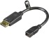 Bild 1 Deltaco DisplayPort ha till Mini DisplayPort ho, 0,15m, svart