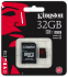 Bild 2 Kingston 32GB microSDHC UHS-I speed class 3 U3 90R/80W